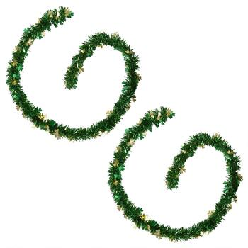 9' Green & Gold St. Patrick's Day Garlands, Set of 2
