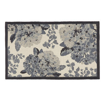The Grainhouse™ Gray Floral Accent Rug view 1