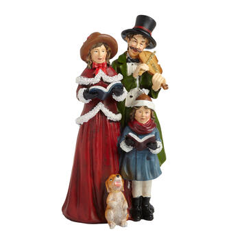 Xtrd Ply Carolers W/dog view 1