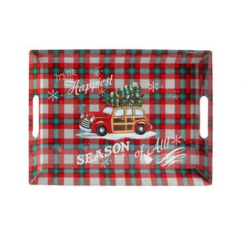 """It's the Happiest Season of All"" Melamine Serving Tray"