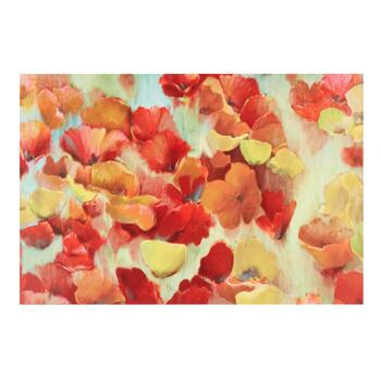 "24""x36"" Red and Yellow Flowers Canvas Wall Art"