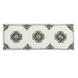 White/Green Celtic Beaded Table Runner