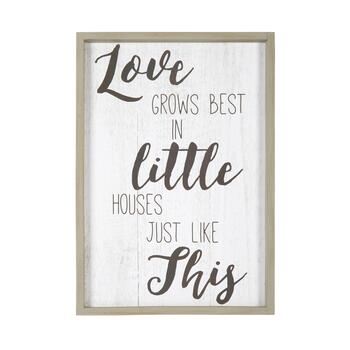 "The Grainhouse™ 19""x27"" ""Love Grows Best"" Framed Wall Decor"