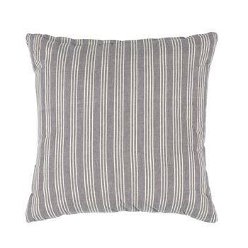 "The Grainhouse™ 22"" Dark Gray Striped Square Throw Pillow"