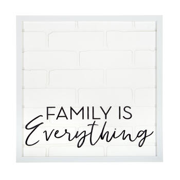 "The Grainhouse™ 20"" ""Family Is Everything"" Square Framed Wall Decor view 1"