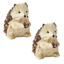 "6"" Plush Pinecone Hedgehogs, Set of 2"