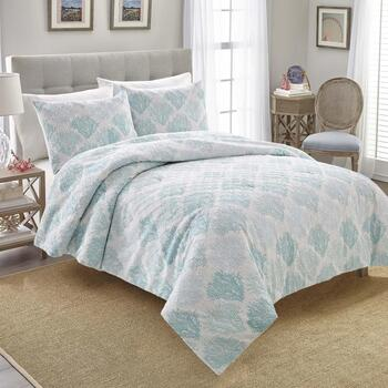 Coastal Blue Sea Breeze Comforter Set, 3-Piece