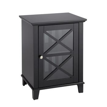 Rapture Black 1-Door Storage Cabinet