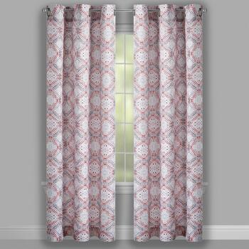 Coral Crawford Lotan Grommet Window Curtains, Set of 2 view 2