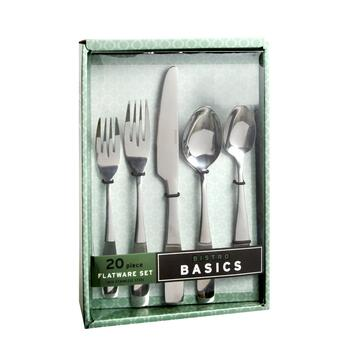 Hampton Forge Mirrored Stainless Steel Flatware Set, 20-Piece view 2