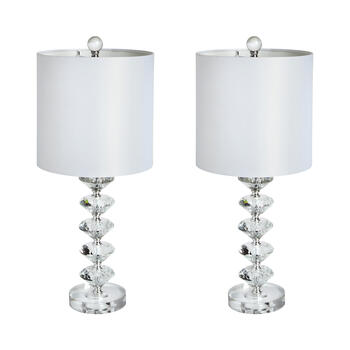 "22.5"" 5-Crystal Candlestick Table Lamps, Set of 2 view 1"