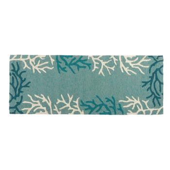 Coastal Living Seascapes™ Blue Coral Border Rug view 2 view 3