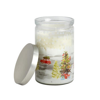 16-oz. Car and Christmas Tree Peppermint-Scented Candle view 1