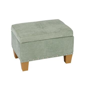 Kent Tufted Storage Ottoman with Nailheads view 2 view 3