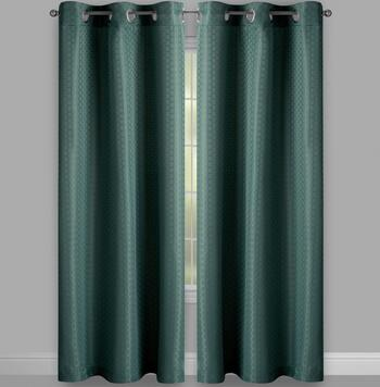 Pebble Solid Print Grommet Window Curtains, Set of 2 view 2