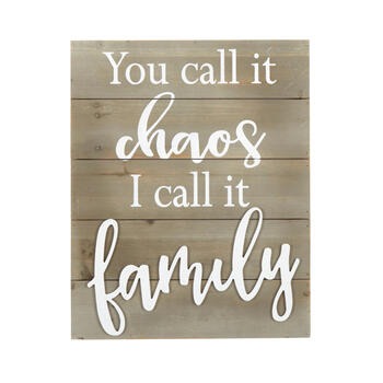 "16""x20"" ""You Call It Chaos"" Cutout Wood Wall Decor view 1"