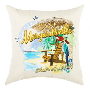 """Margaritaville State of Mind"" All-Weather Throw Pillow"