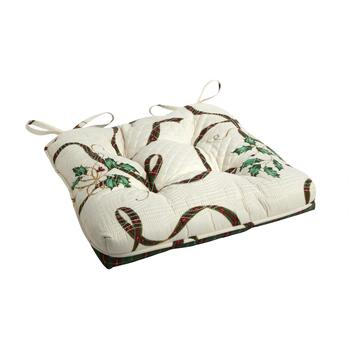 Famous Maker Holly Ribbon Square Seat Pad
