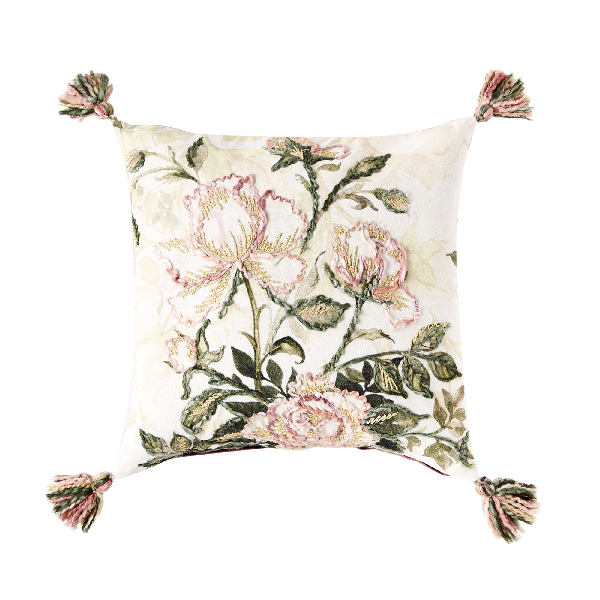 Petal And Stone 20 Embellished Floral Throw Pillow Christmas Tree Shops And That Home Decor Furniture Gifts Store