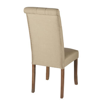 Solid Tufted Upholstered Parsons Chair view 2