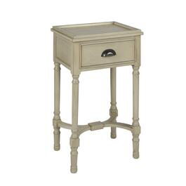 The Grainhouse Trade Gray 1 Drawer Tray Top Accent Table