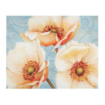 "22""x28"" Orange/White Flower Canvas Wall Art"