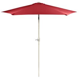 9' Brick Red Crank/Tilt Market Umbrella