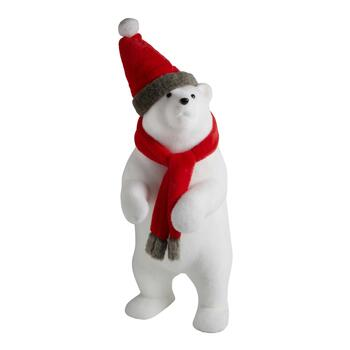 "40"" Red Hat & Scarf Polar Bear"