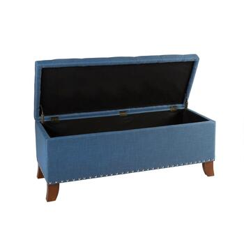 Bailey Tufted Storage Ottoman with Nailheads view 2