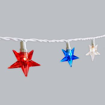 12' All-American Star String Lights, Set of 2