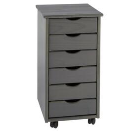 "26"" 6-Drawer Rolling Storage Cart"