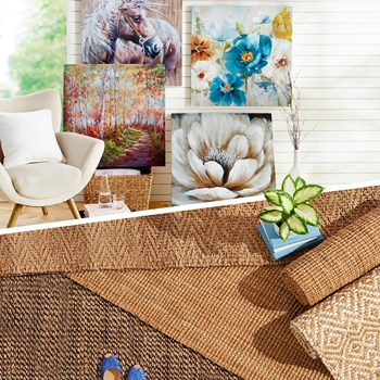 Canvas Wall Decor & Jute Rugs