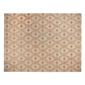 8'x10' Rust Geometric Handcrafted Wool Area Rug