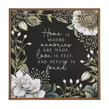 "The Grainhouse™ 30"" ""Home is Where"" Square Framed Wall Decor view 1"