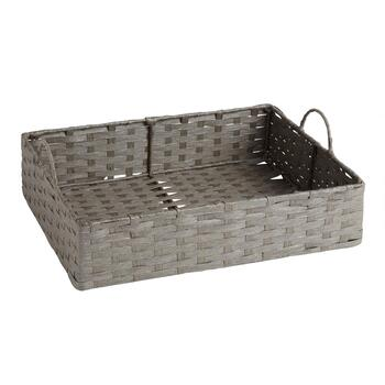 Paper Weave Rectangular Tray with Handles