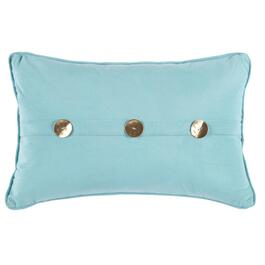 Coastal Metallic Button Oblong Throw Pillow
