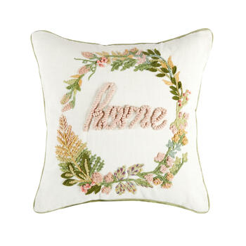 """Home"" Square Throw Pillow view 1"