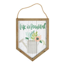 "16"" ""Life is Beautiful"" Wood Framed Wall Hanger view 1"
