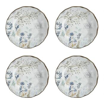 Winter Woodland Tree Branch Dinner Plates, Set of 4