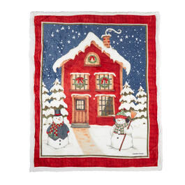 Debbie Mum® Holiday House Sherpa Throw Blanket view 1