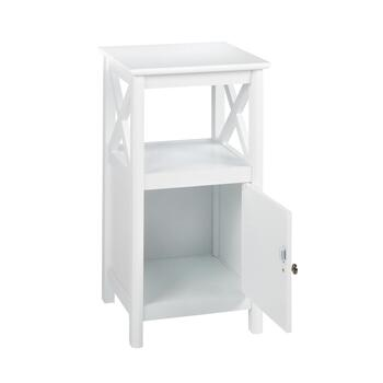"22"" Milan White 1-Door X-Sided Cabinet view 2"