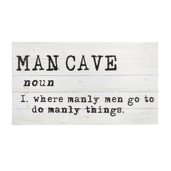 "18""x32"" ""Man Cave"" Definition Wood Wall Decor view 1"
