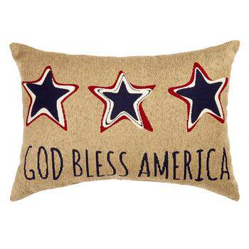 """Bless America"" Oblong Tapestry Pillow"