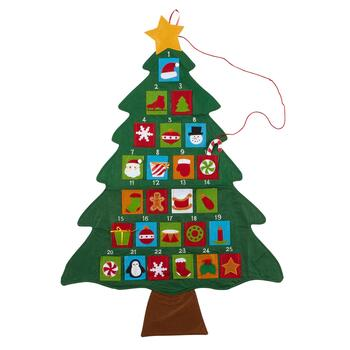 "37"" Christmas Tree Advent Calendar"