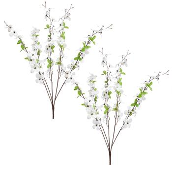 Dogwood Artificial Flower Bushels, Set of 2