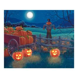 "20""x26"" Pumpkin Patch LED Canvas Wall Art"