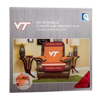 NCAA Virginia Tech Reversible Recliner Cover