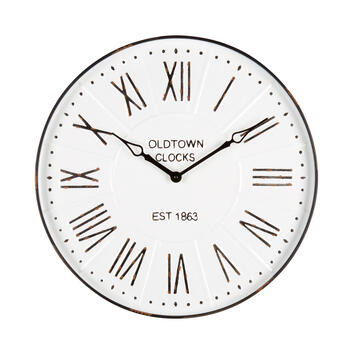 "23"" ""Oldtown Clocks"" Round Roman Numeral Wall Clock view 1"