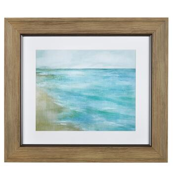 "12"" Painted Coast Framed Wall Art"