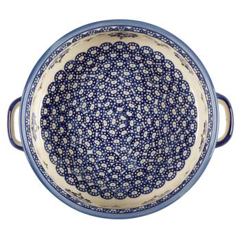 Polish Pottery Floral Chain Fruit Bowl view 2